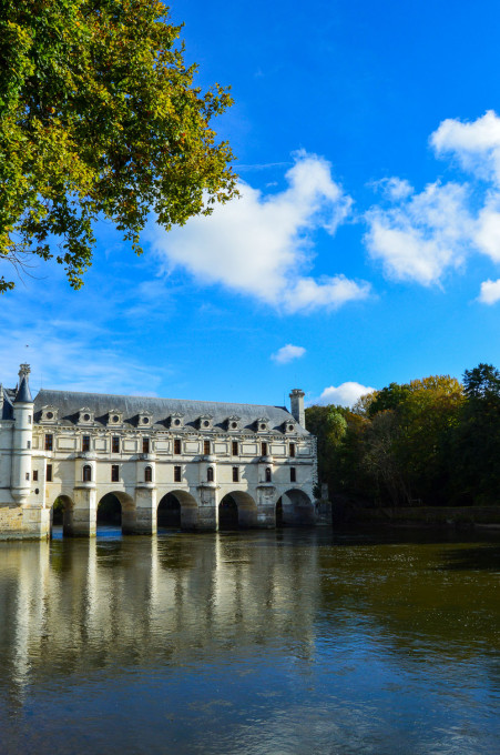 Chenonceau on the Cher River in Loire
