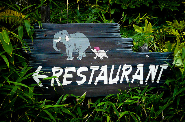 Colonel Hathi's Pizza Outpost Sign