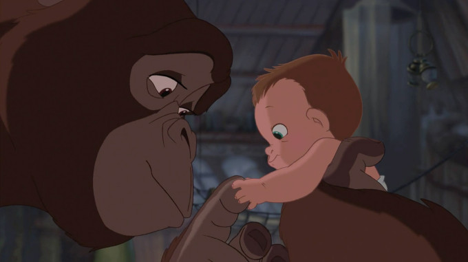 Disney's Tarzan Baby with Kala