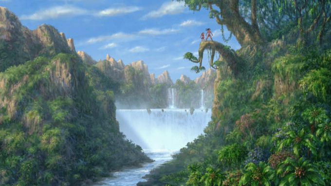 Disney's Tarzan with Jane in Jungle