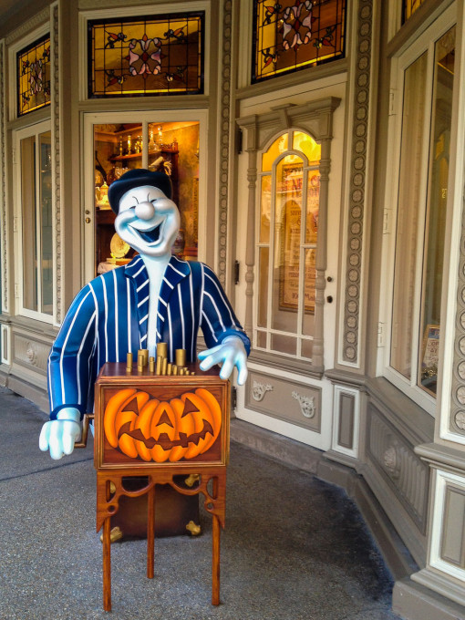 Main Street U.S.A. during Halloween at Disneyland Paris