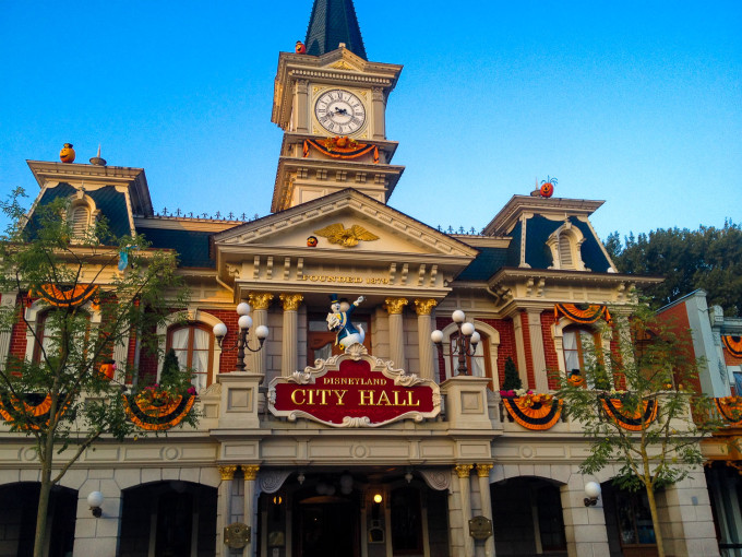 City Hall during Halloween at Disneyland Paris