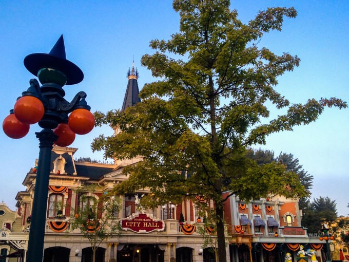 Town Hall during Halloween at Disneyland Paris
