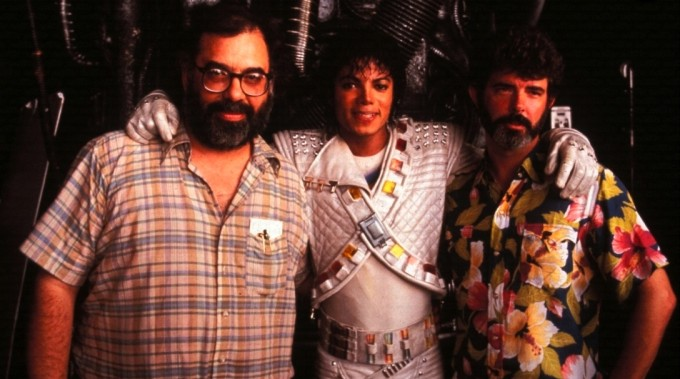 Michael Jackson, George Lucas and Francis Ford Coppola on Captain EO