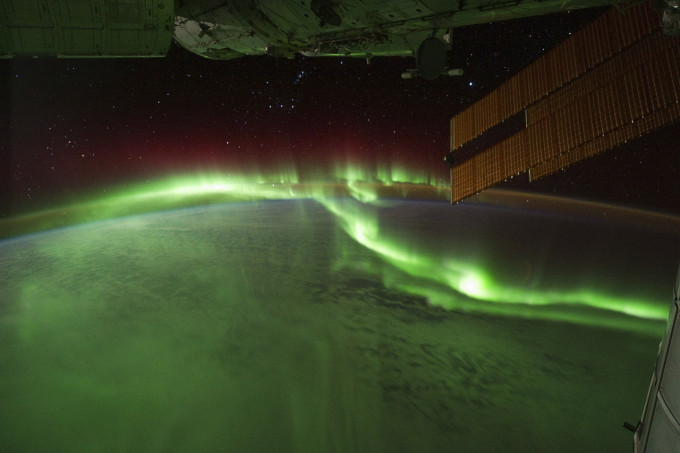 Aurora Borealis Northern Lights from Space