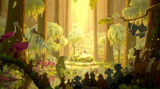 Princess and the Frog Disney Forest