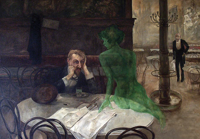 The Absinth Drinker by Viktor Oliva